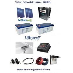Kit fotovoltaic 1000Wp
